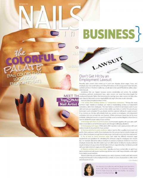 Six Business Tips for Nail Salon Owners From Berger Kahn Employment ...